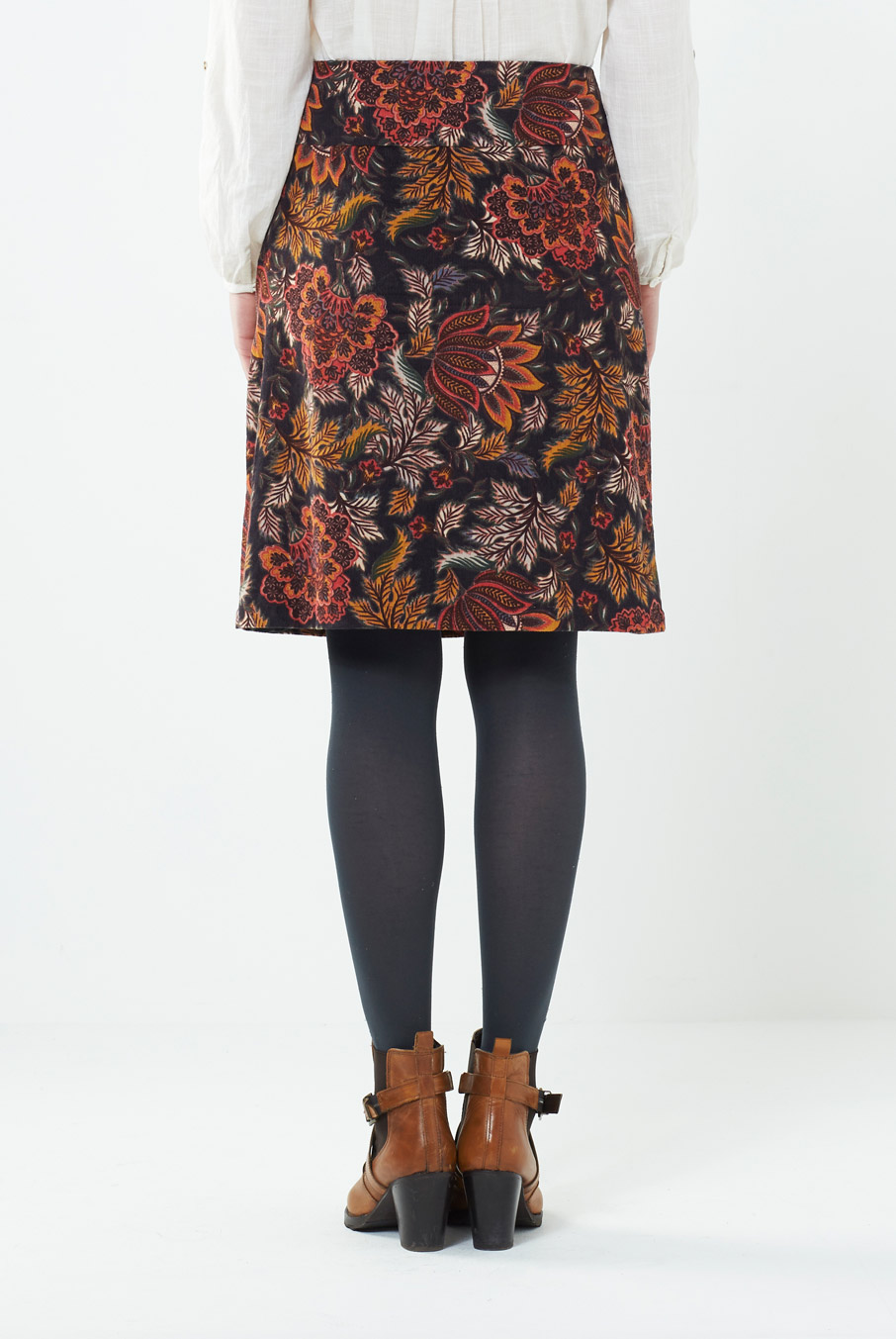 Floral Cord Skirt
