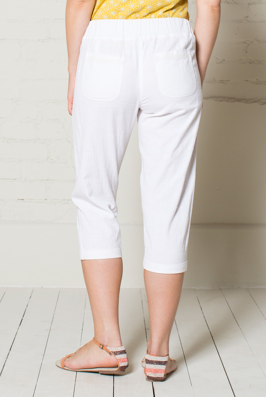 Plain Crop Trousers