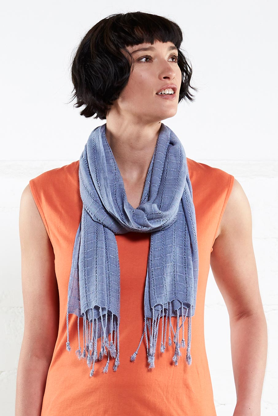 Plain Fringed Scarf