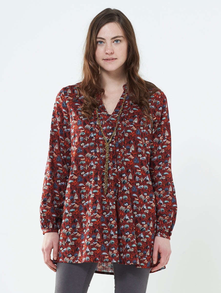 Tunic Top Spice Red