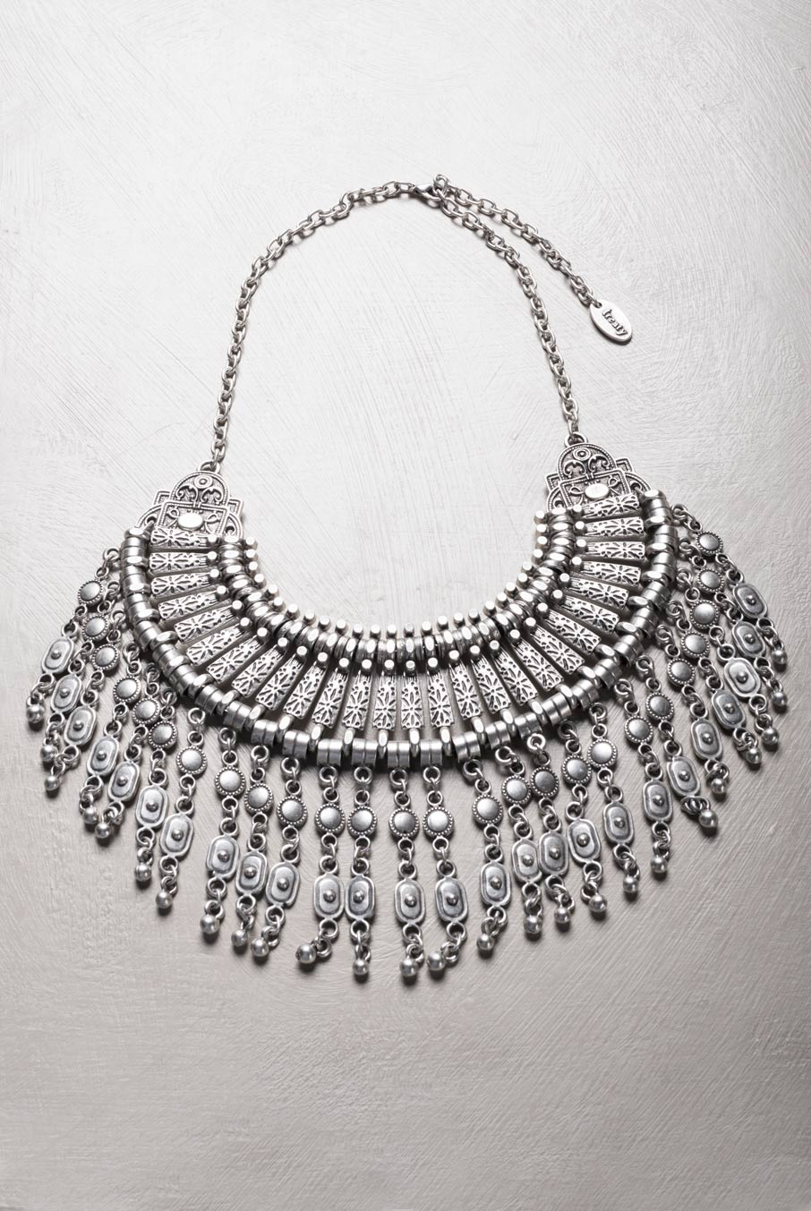 Sahara Statement Necklace Silver