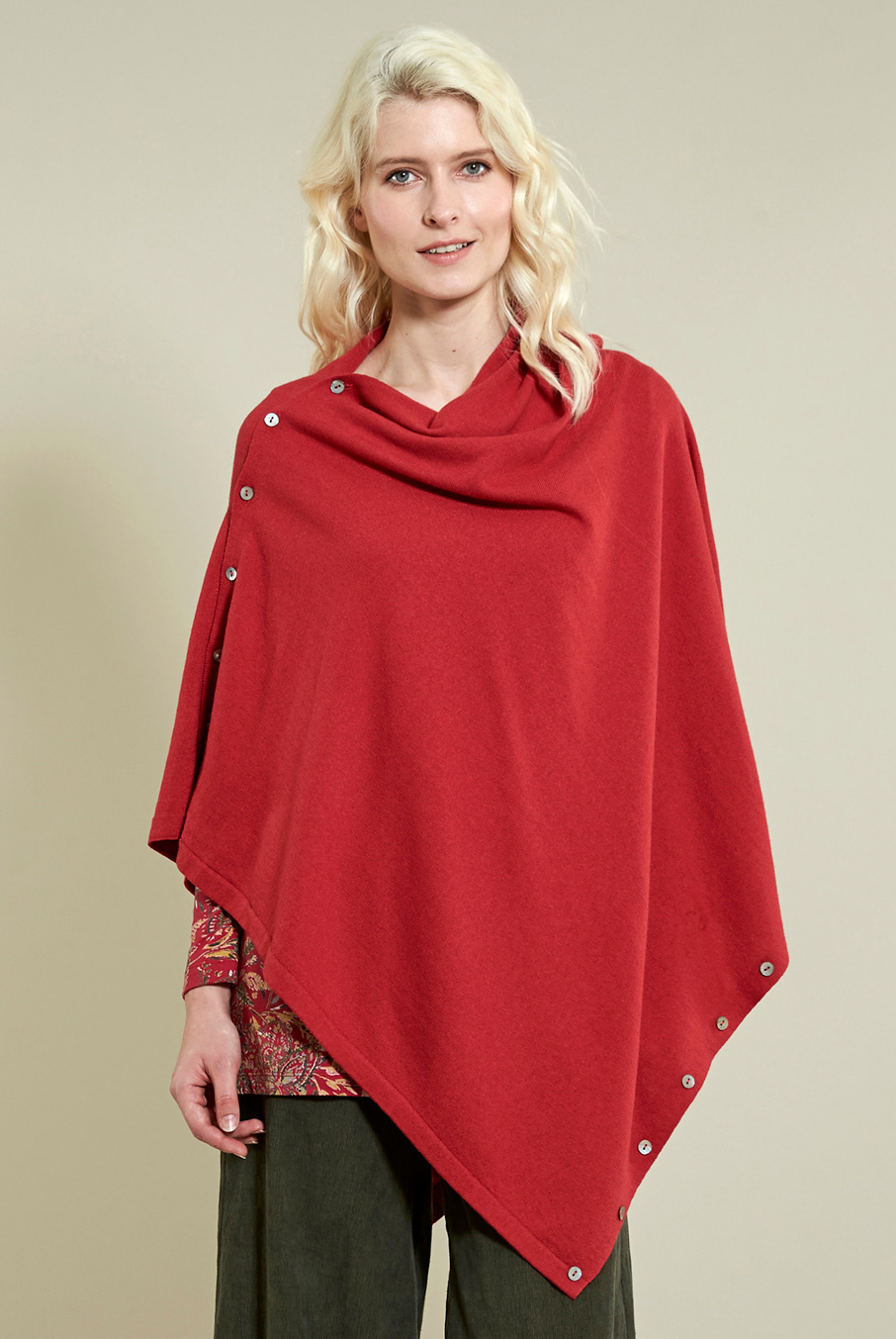 Button Poncho