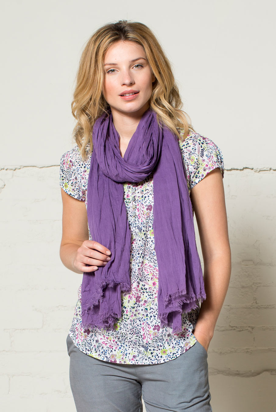 Voile Scarf Heather