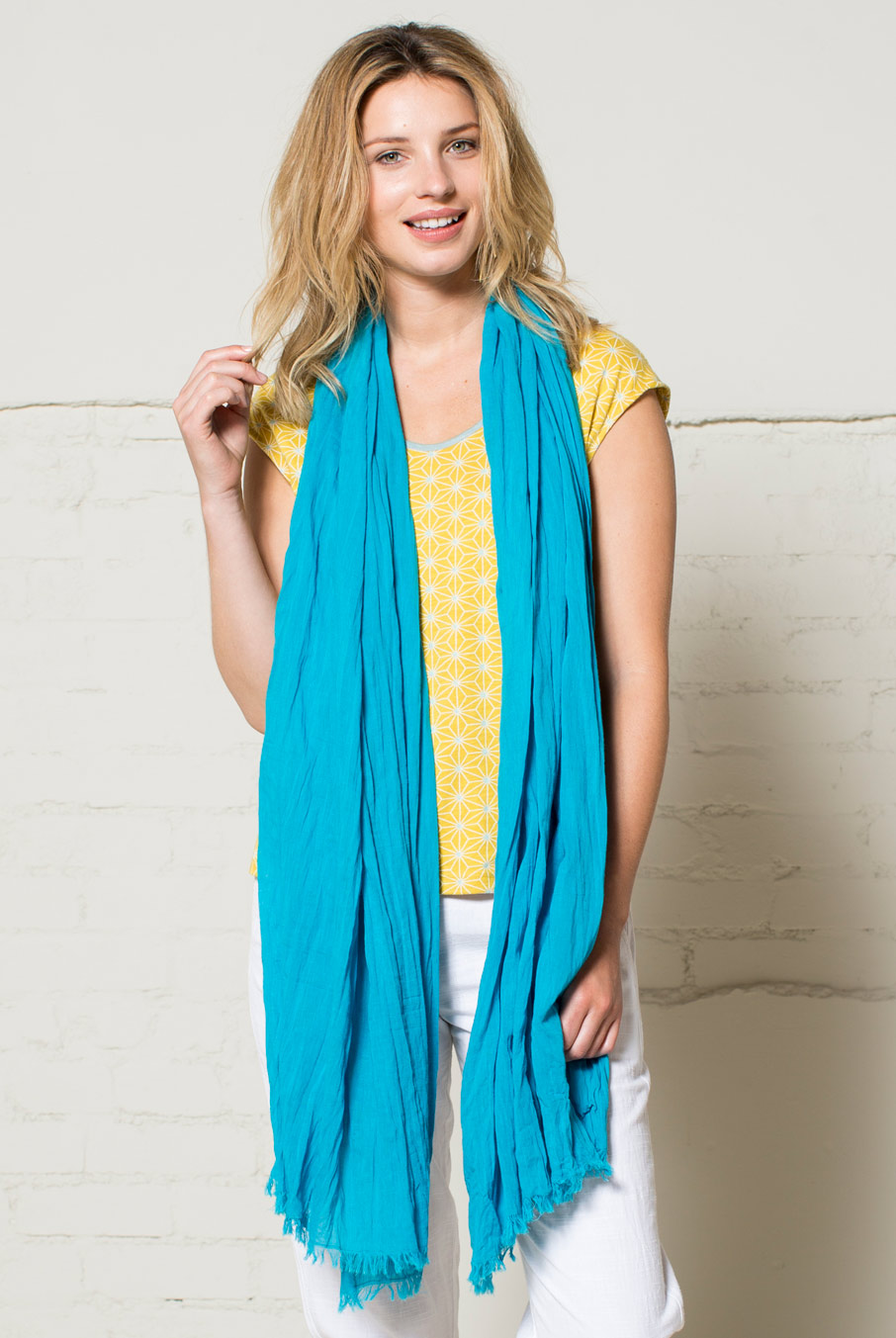 Voile Scarf Turquoise