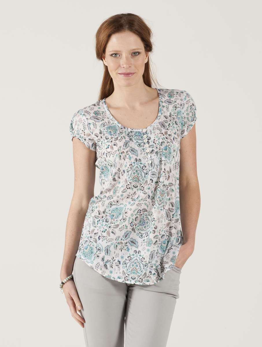 Short Sleeve Voile Top