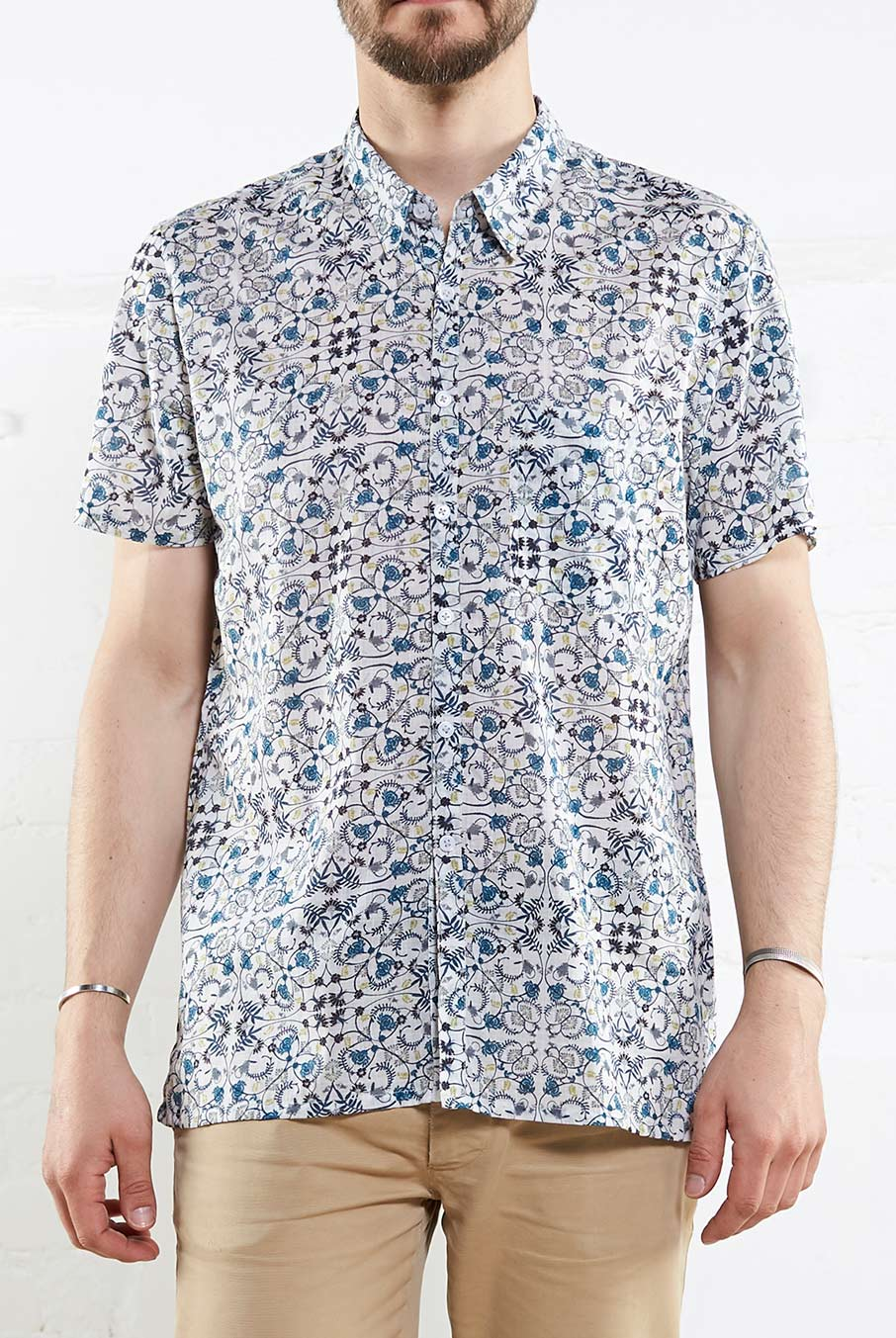 Cotton Tolcarne Shirt White