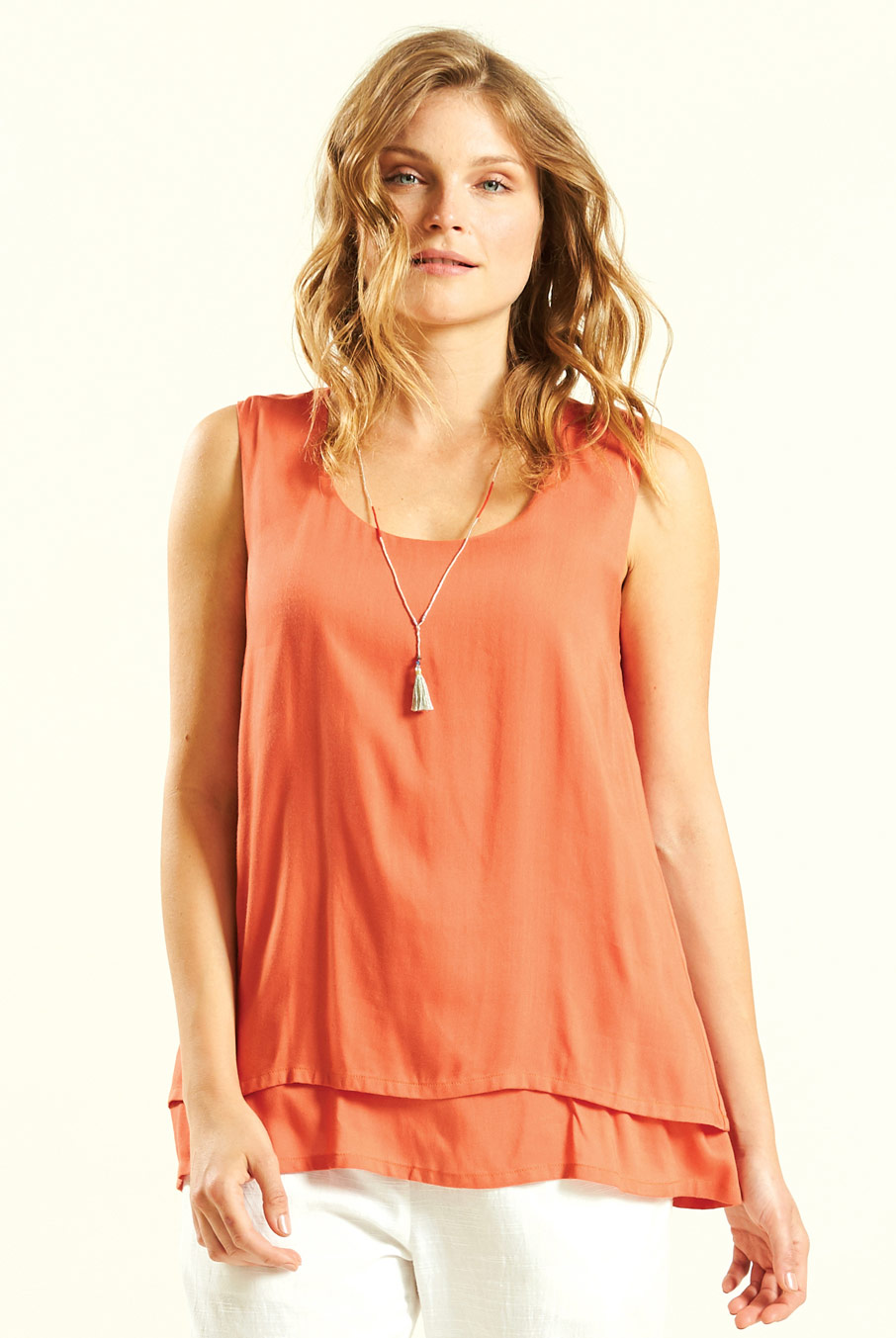 Double Layered Sleeveless Top