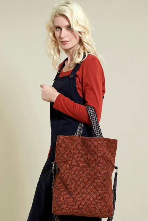 Sienna Aztec Fold Over Bag (back)