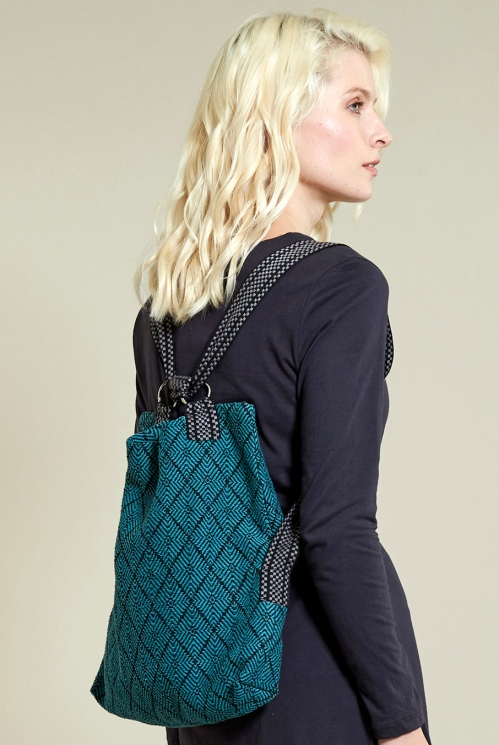 Shopper/Rucksack in Pacific Blue - back view