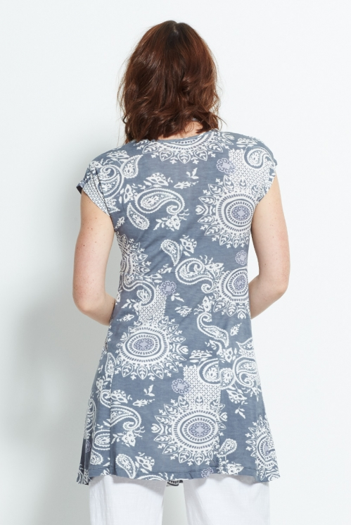 Silver Ruched Tunic (back)