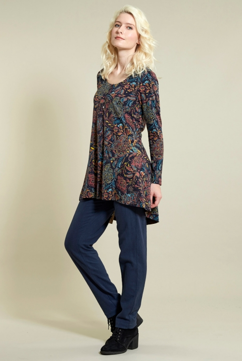 Swing Tunic in Organic Cotton Jersey - image shows Sienna