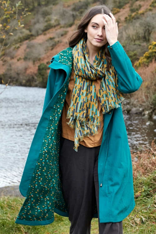 Tussock Fair Trade Ethically Made Printed Brushstroke Scarf
