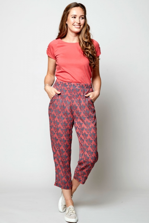 Aniseed Sustainable Cropped Slim Leg Trouser