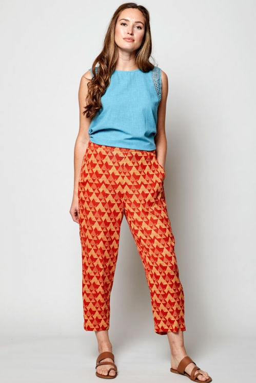 Sunset Ethically Made Cropped Slim Leg Trouser