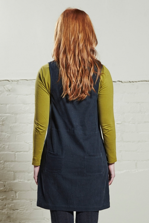Pewter Popper Front Pinafore (back)