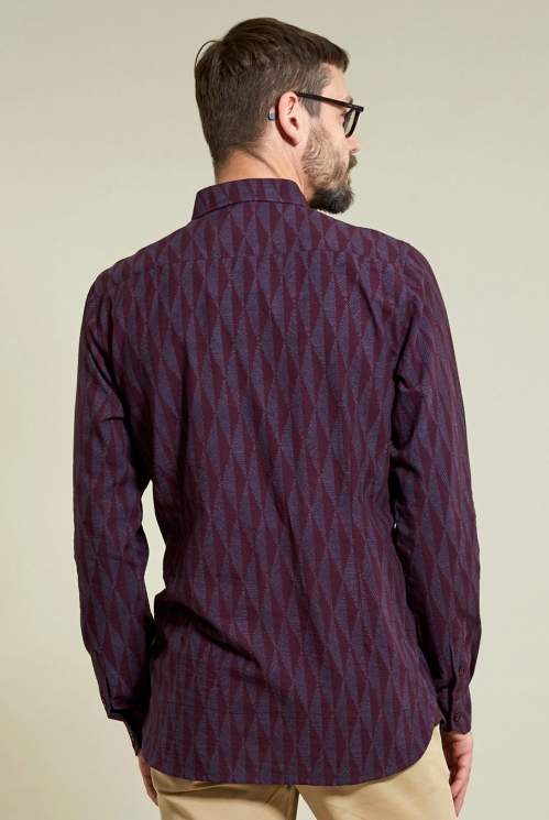 Chisle Long Sleeve Shirt in Plum - back view