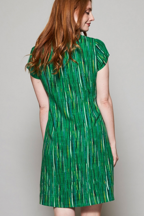 Fair Trade Leaf Green Tie Detail Multi-Way Dress