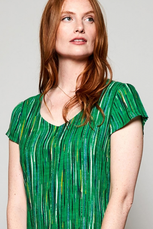 Leaf Green Fair Trade Tie Detail Multi-Way Dress