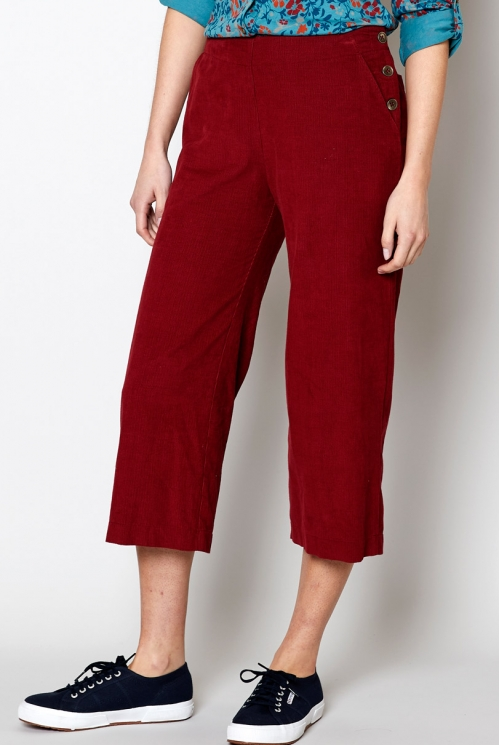 Fig Fair Trade Ethically Made Cropped Needlecord Trouser
