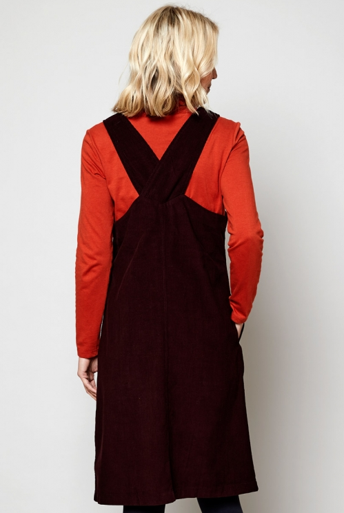 Date Ethically Made Sustainable Needlecord Dungarees Dress