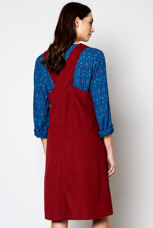 Fig Fair Trade Ethically Made Needlecord Dungarees Dress