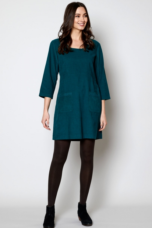 Peacock Ethically Made Sustainable Crochet Insert Tunic Dress