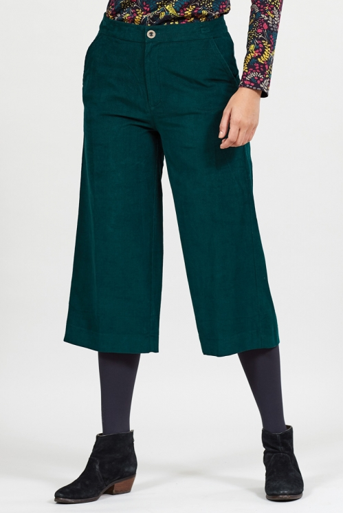 Fair Trade Bay Cord Wide Leg Cropped Trousers