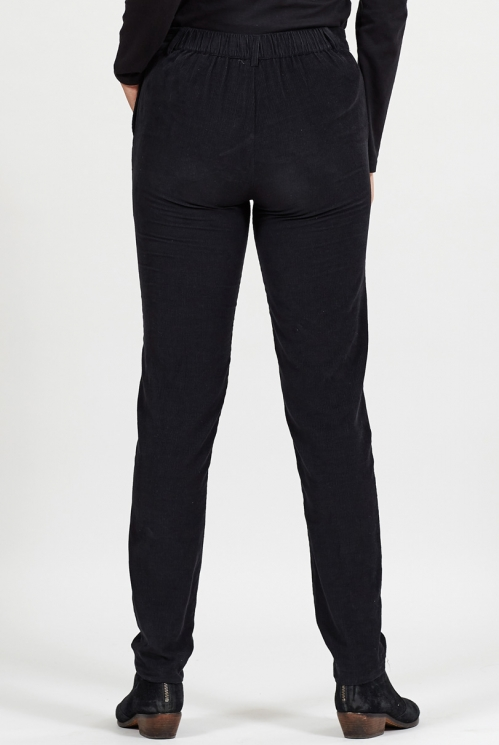 Graphite Ethically Made Cord Slim Leg Trousers