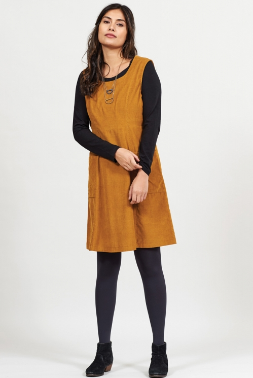 Spice Fair Trade A-line Cotton Cord Pinafore Dress