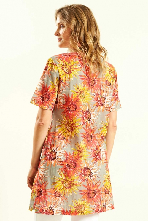 Guava Short Sleeve Tunic (back)