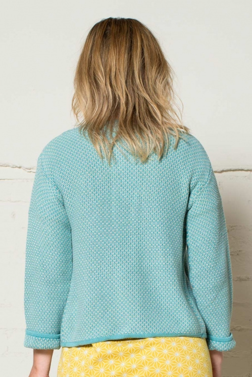 Ocean Edge to Edge Cardi (back)