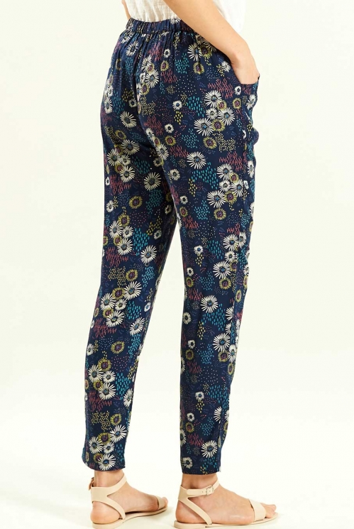 Peg Trouser in Navy - back view