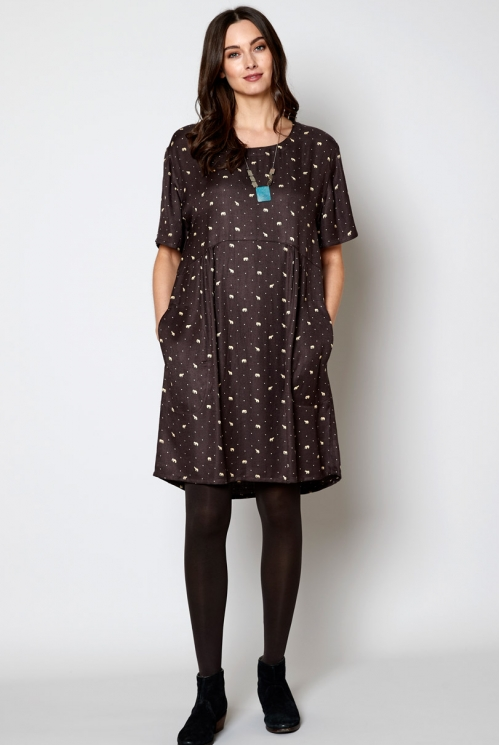 Chocolate Fair Trade Ethically Made Floaty Tunic Dress