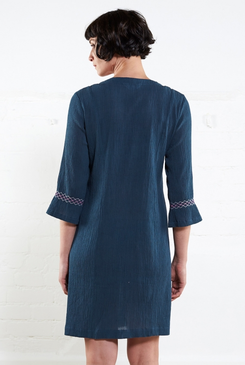 Atlantic Smocked Tunic Dress (back)