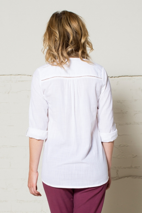 White Embroidered Shirt (back)