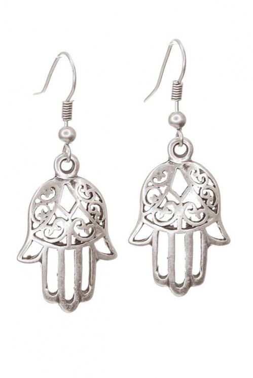 Silver Fatima Earrings