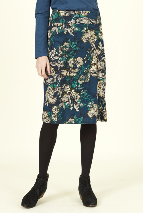 Biscay Blue Fair Trade Organic Cotton Wrap Skirt