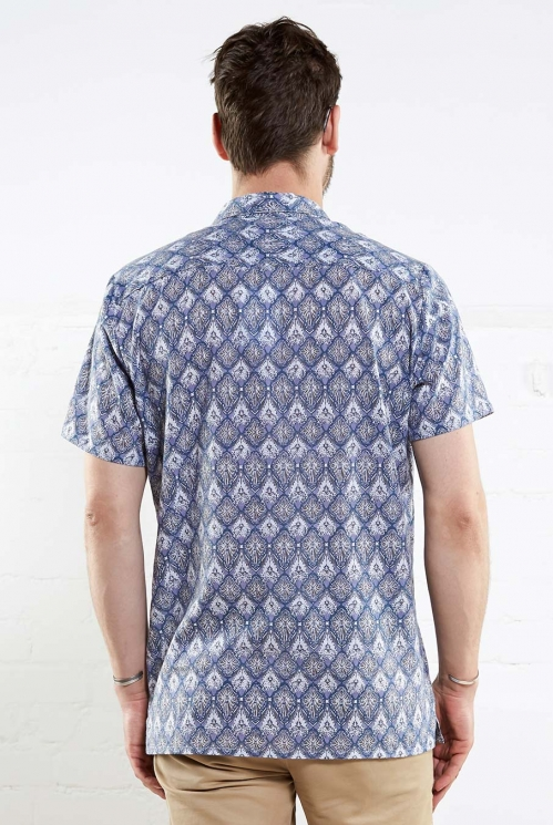 Denim Cotton Filigree Shirt (back)