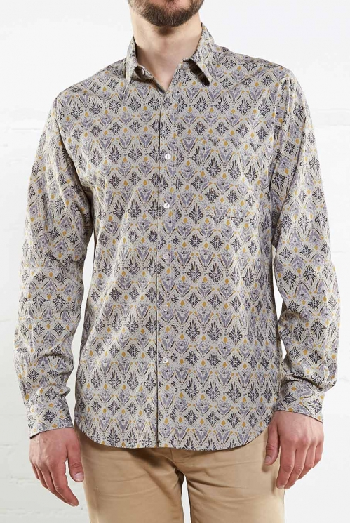 Smoke Long Sleeve Filigree Shirt