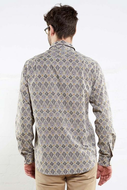 Smoke Long Sleeve Filigree Shirt (back)