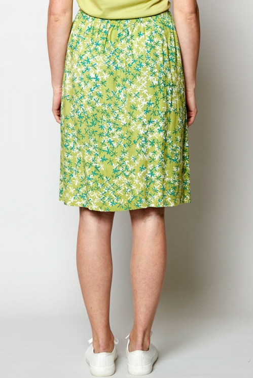 Ethically Made Lagoon Hibiscus Reversible Skirt