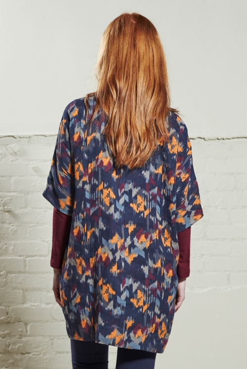 Navy Blue Oversize Tunic Dress (back)