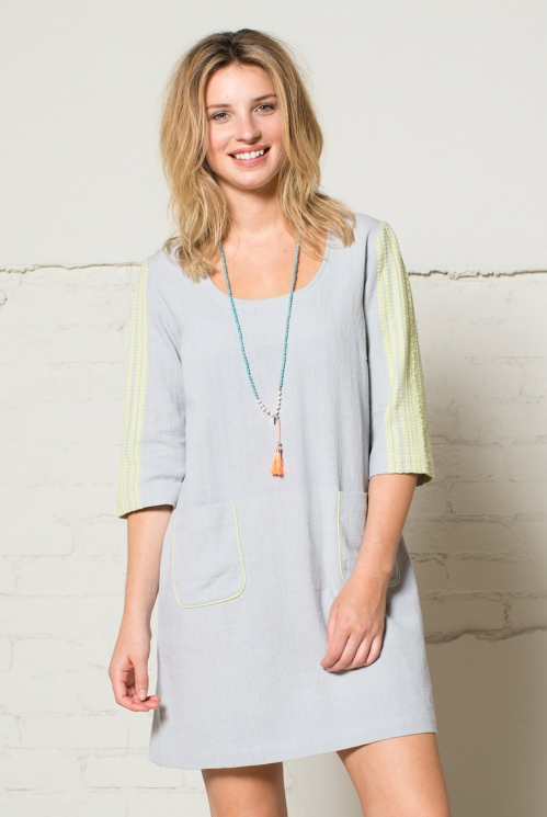 Dove Grey Handloom Tunic Dress