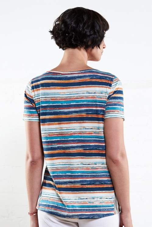 Mango Stripe T-Shirt
