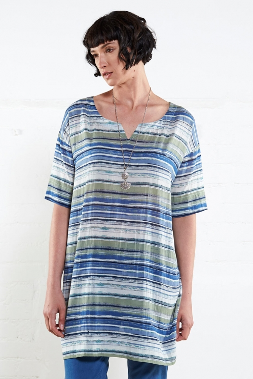 Fern Striped Slouch Tunic