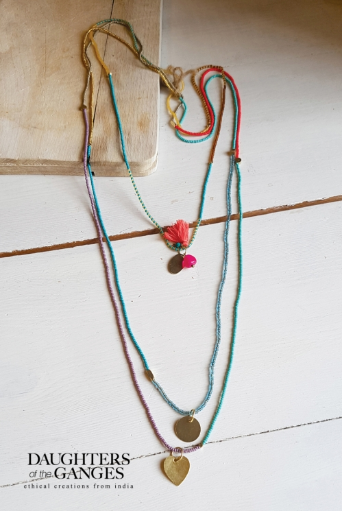 Multi Three Thread Necklace
