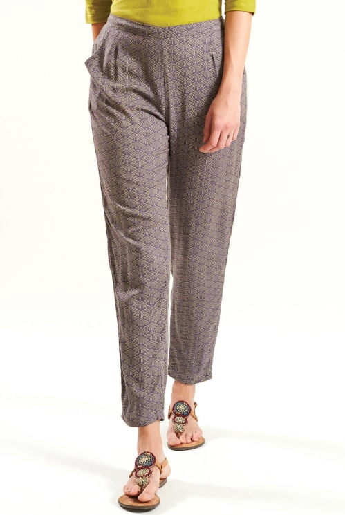 Slate Blue Peg Trousers