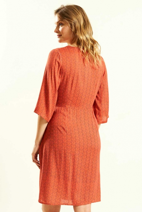 Kimono Tunic Dress in Marigold - back view