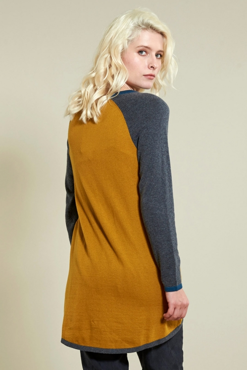 Tunic Jumper in Gold - back view