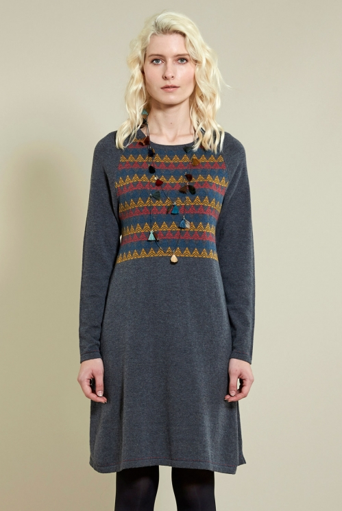 Granite Jacquard Tunic Dress